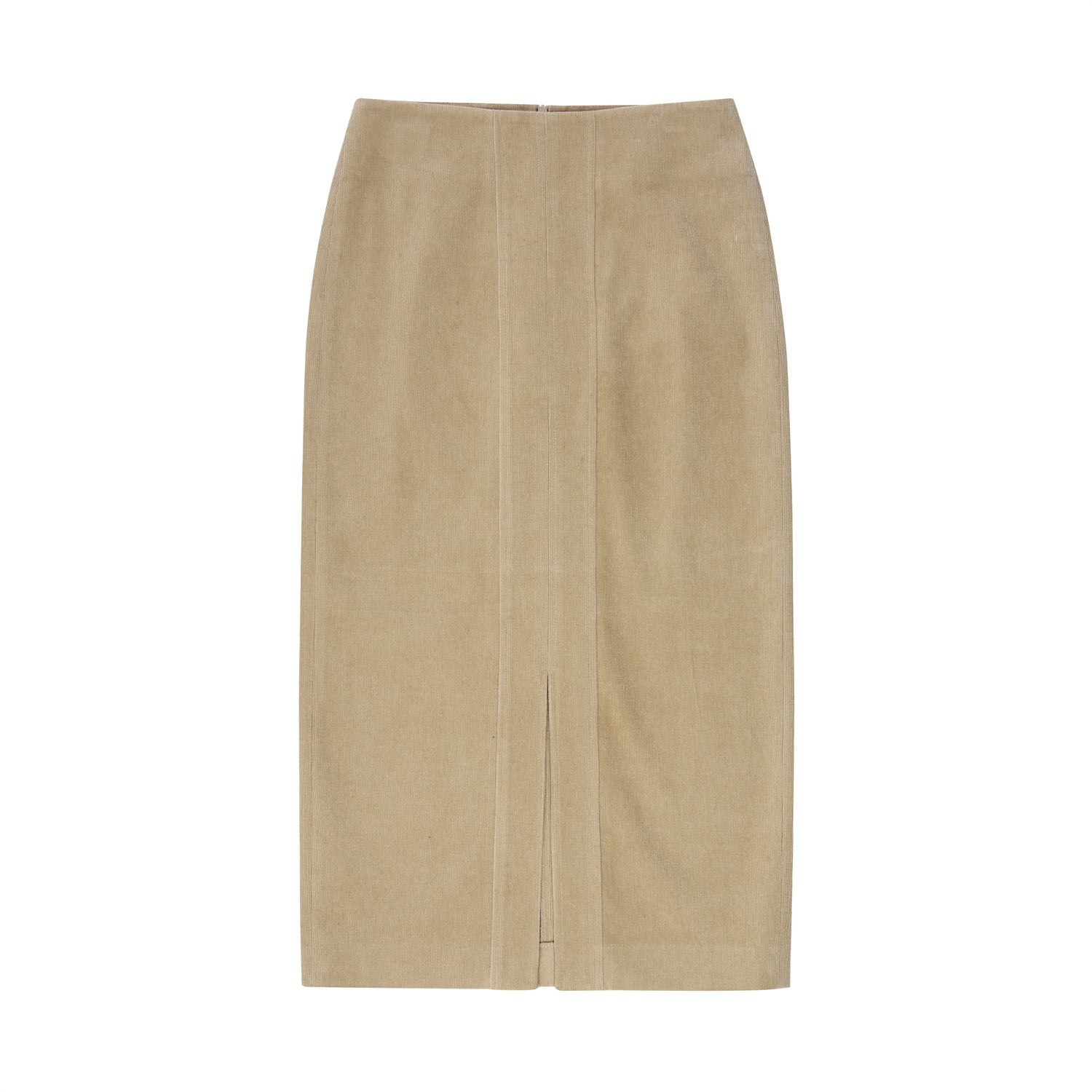 Corduroy pencil skirt - Beige