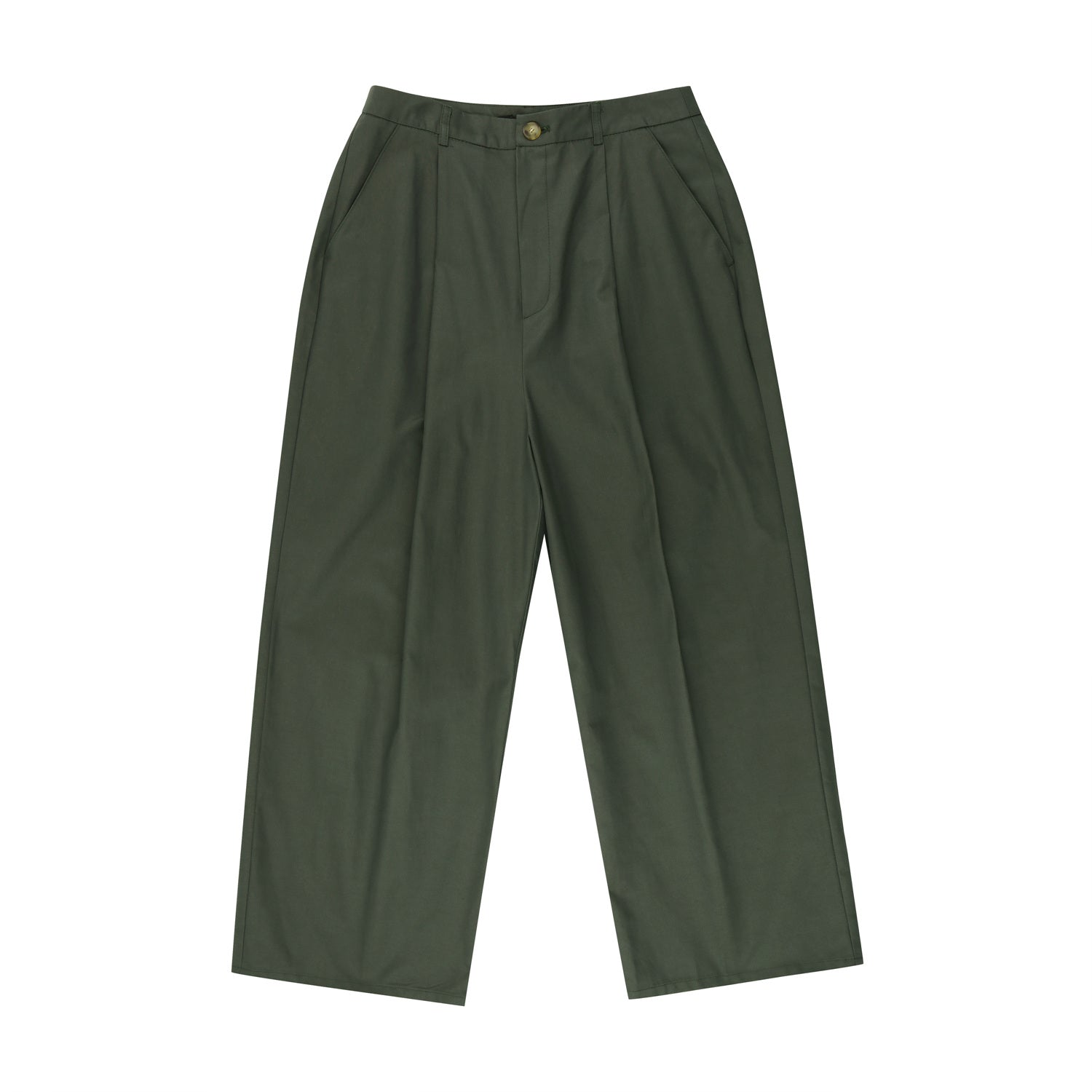 Cotton button pants - Khaki