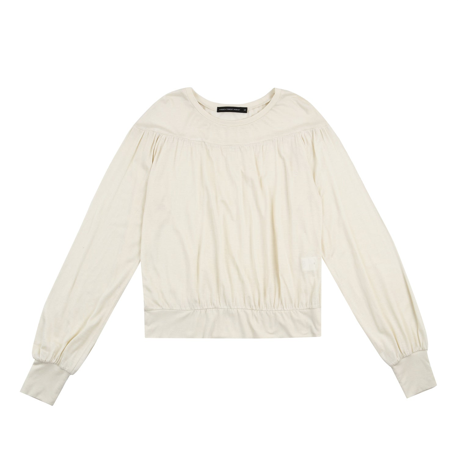 Shirring jersey top - Ivory