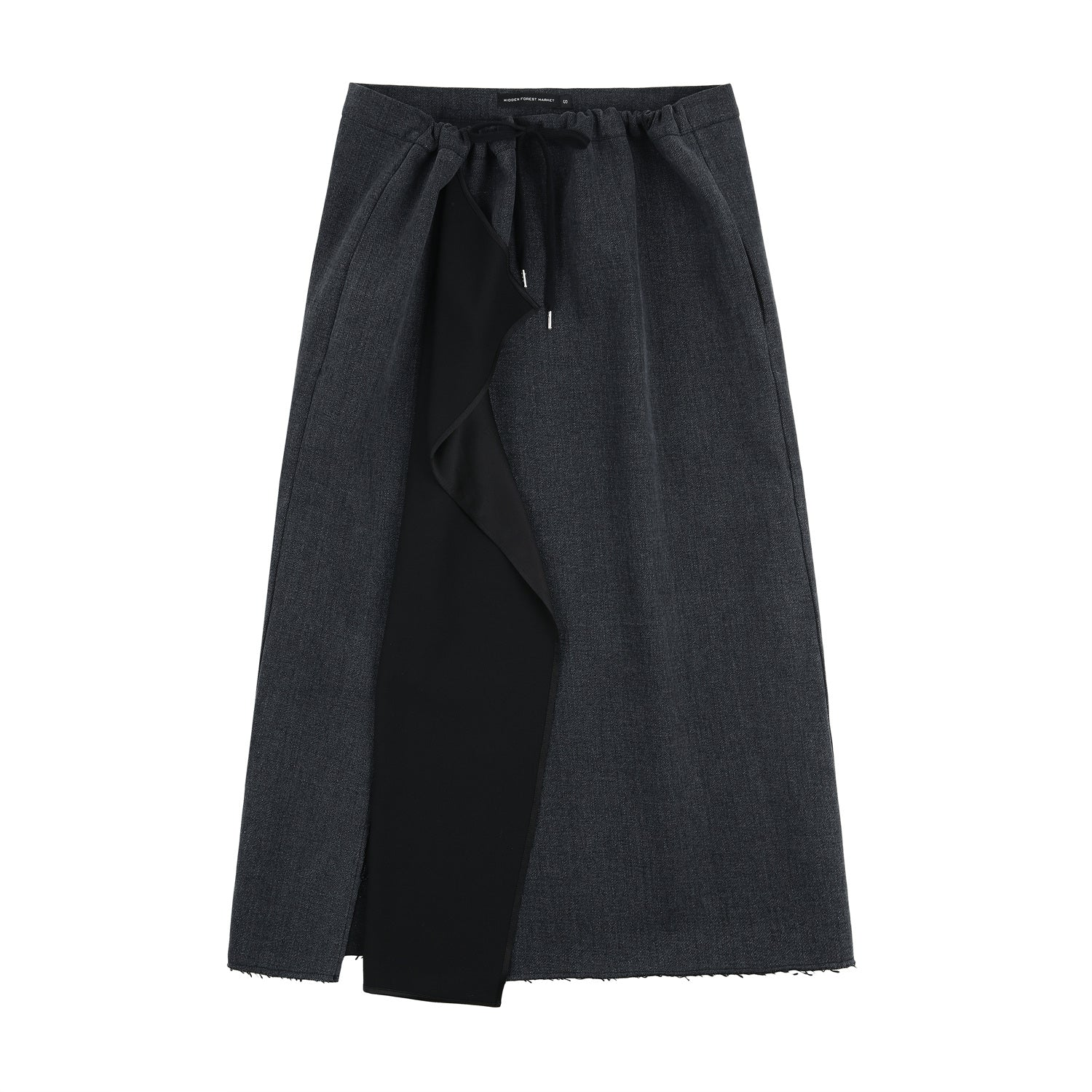 Denim string skirt - Black