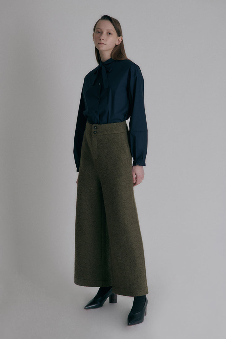 Puddle wool  pants - Black