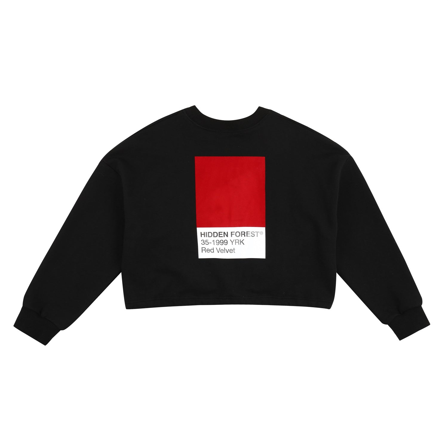 Red velvet YERI sweat shirt - Black