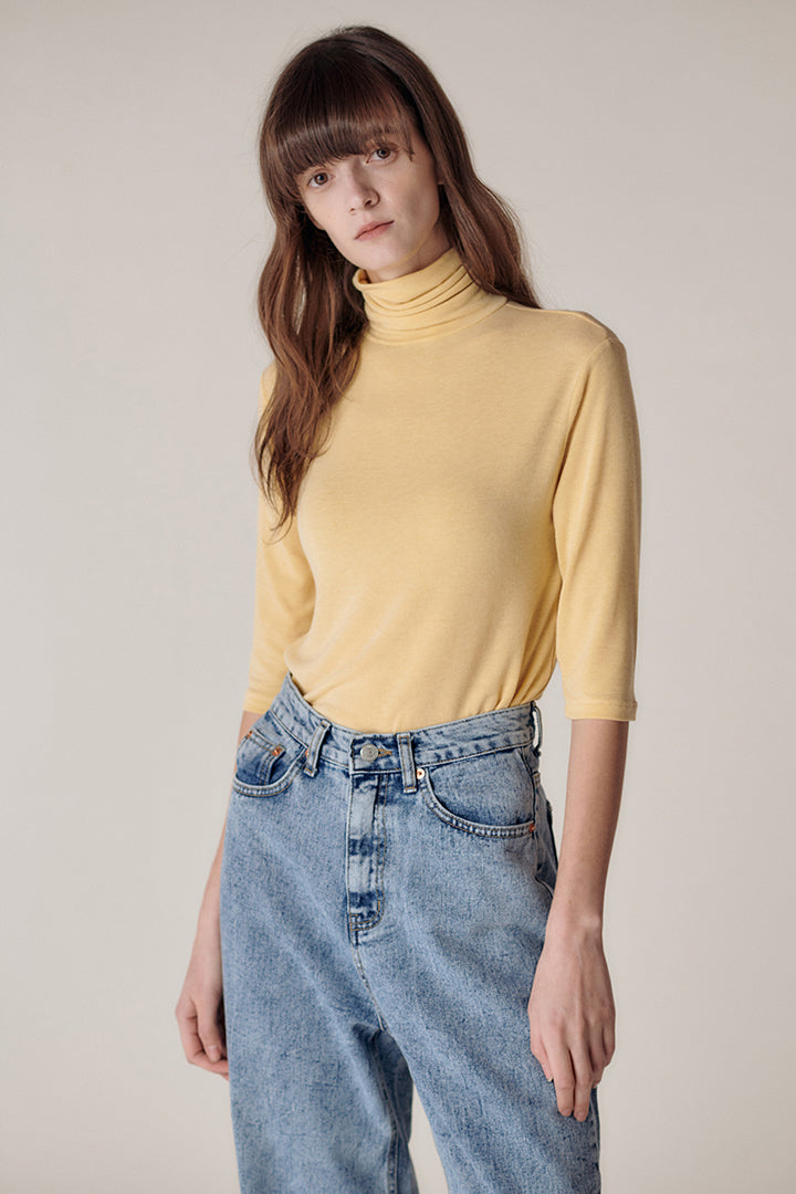 Half Sleeve turtleneck top