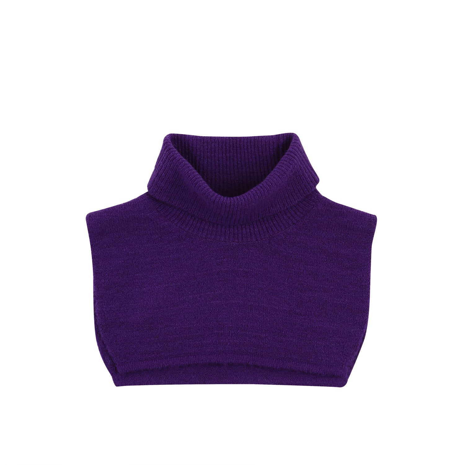 2-way turtle neck knit - Violet