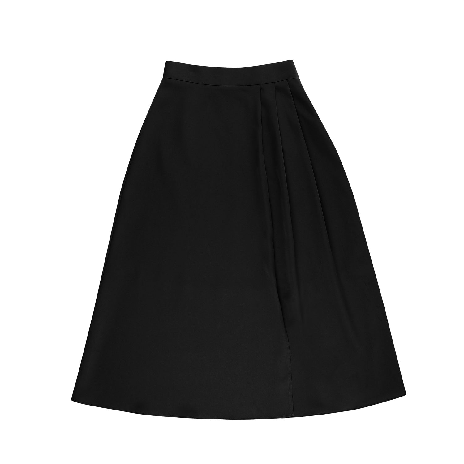 Slit long skirt - Black