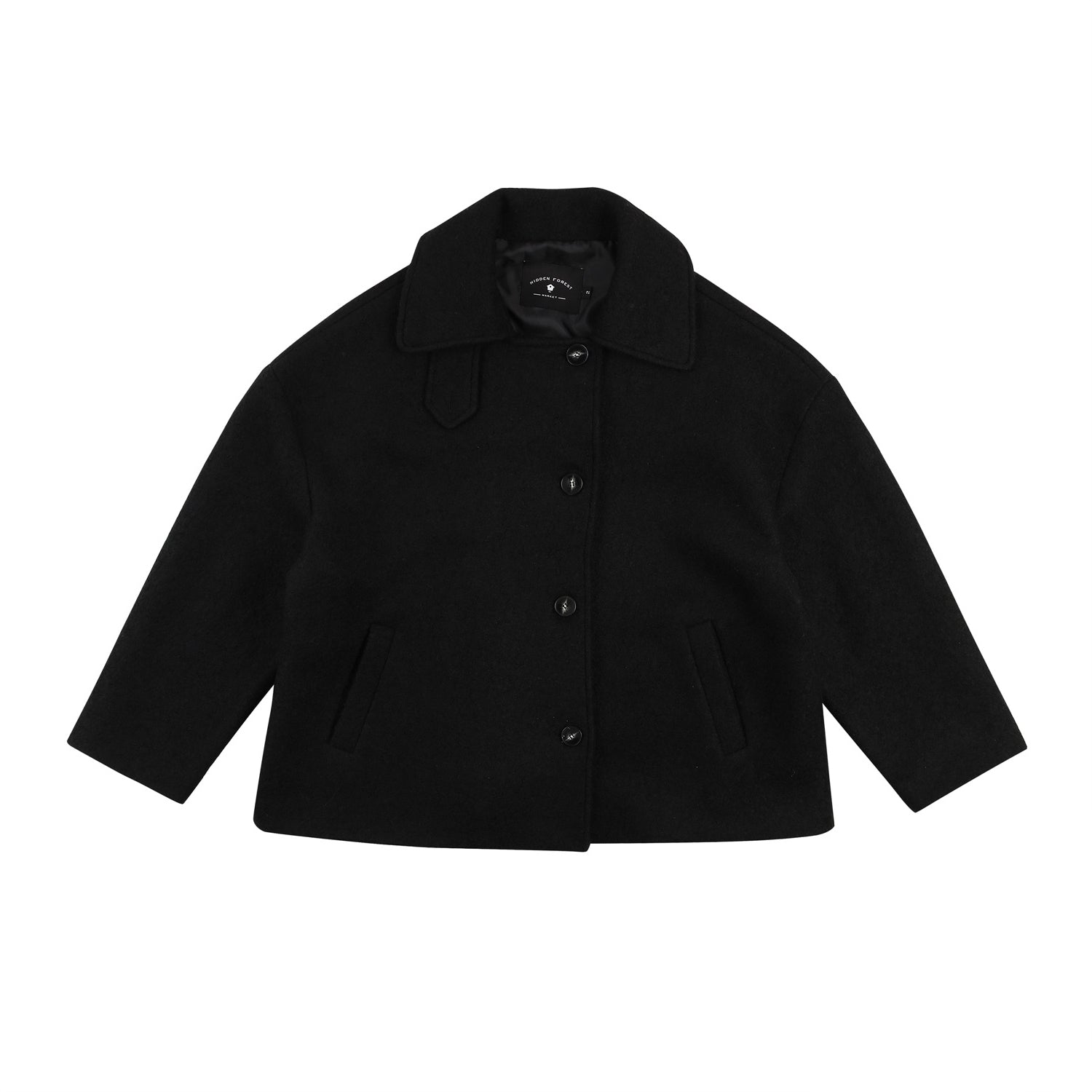 Over-fit short coat - Black