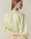 Crispy shirring blouse