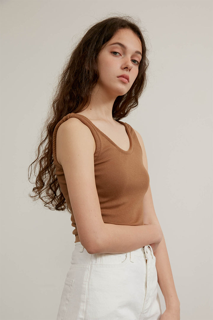 Piping Sleeveless Top