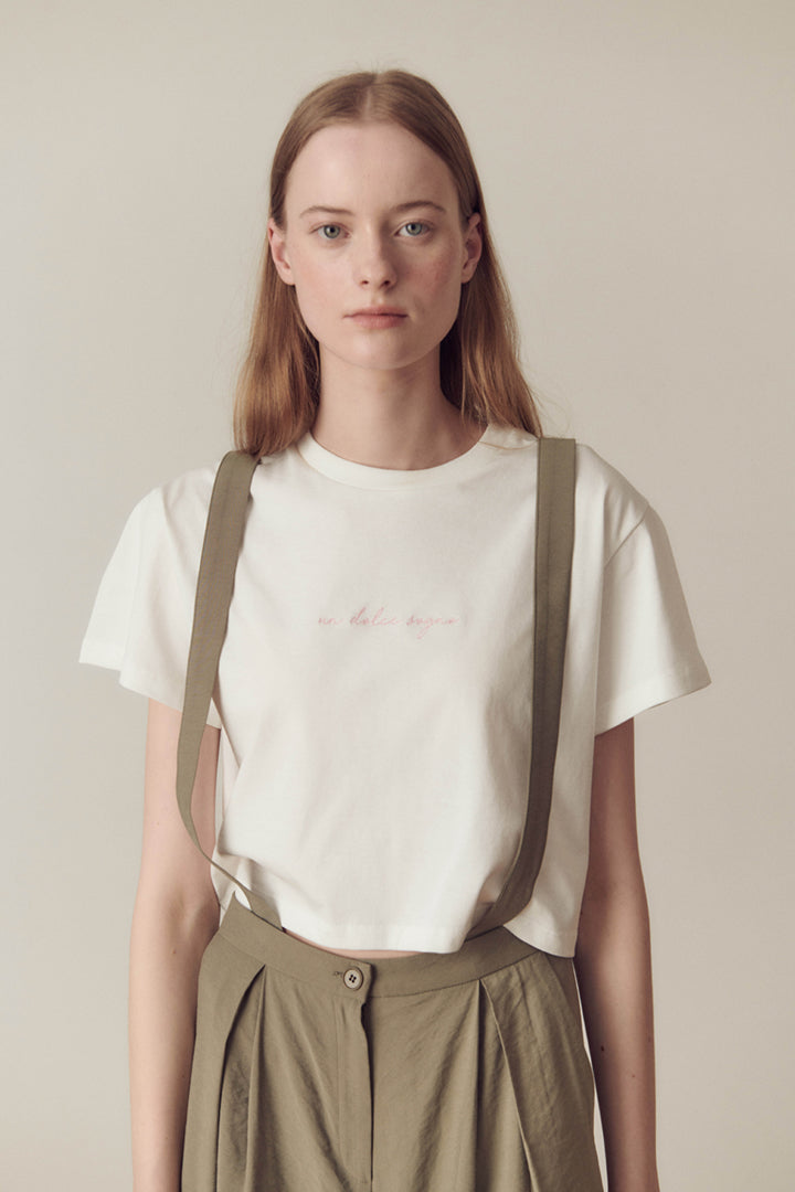 Dolce Sogno Embroidery Crop Top