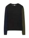 Color block wool t-shirt