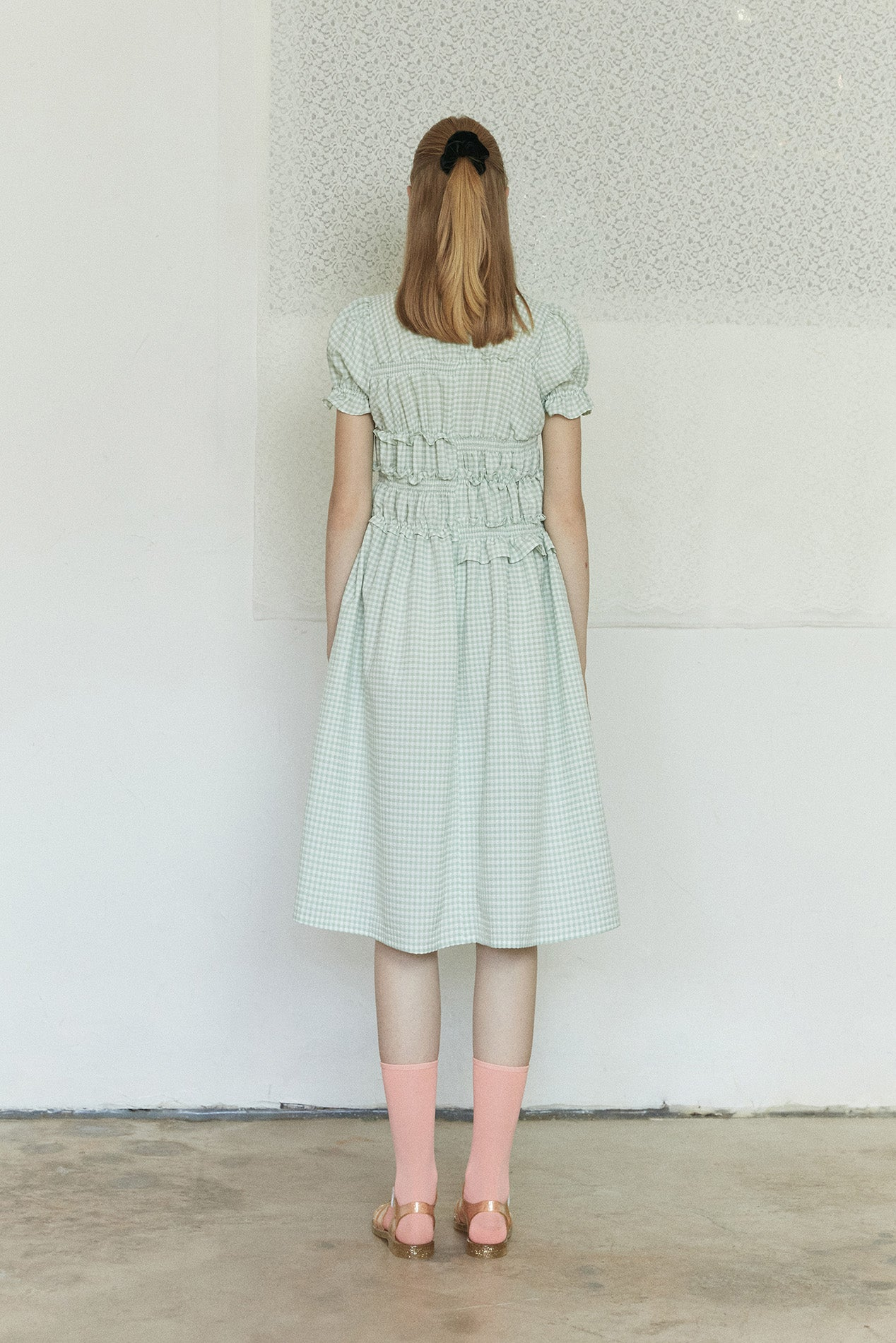 Neul - Puff Sleeve Smocked Check Dress