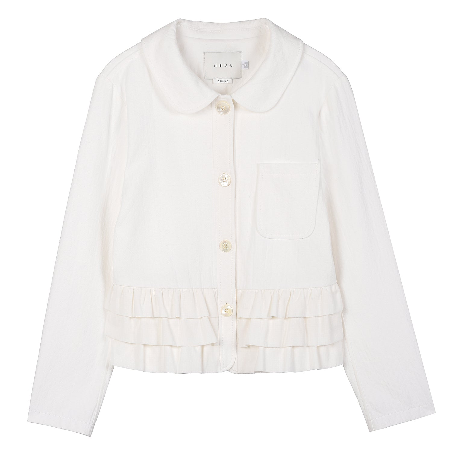 Neul - Frill-layer Cotton Jacket