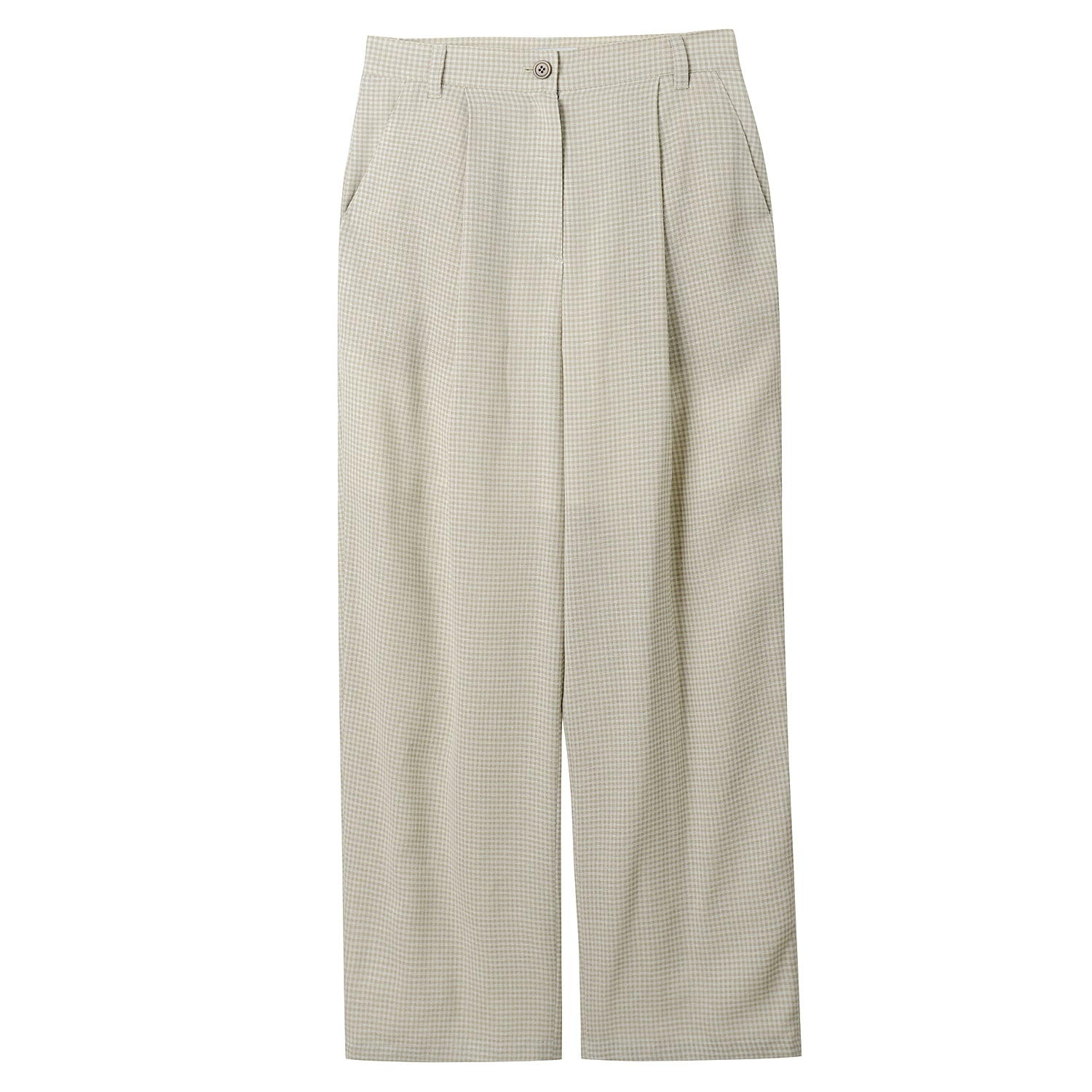 Neul - Vichi Check Linen Straight Pants