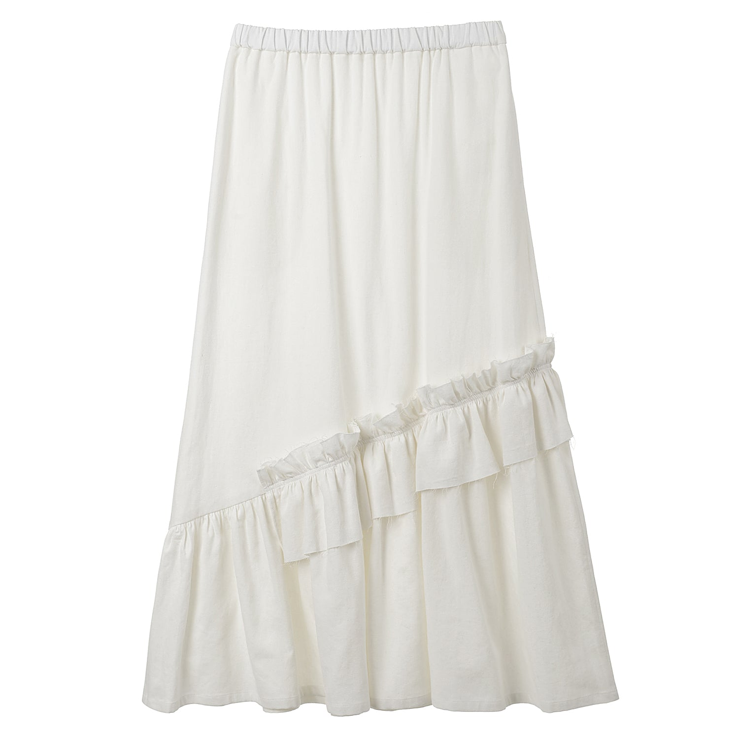 Neul - Bias Cut Shirring Long Skirt