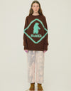 Neul - Bear and fox caution sign sweater