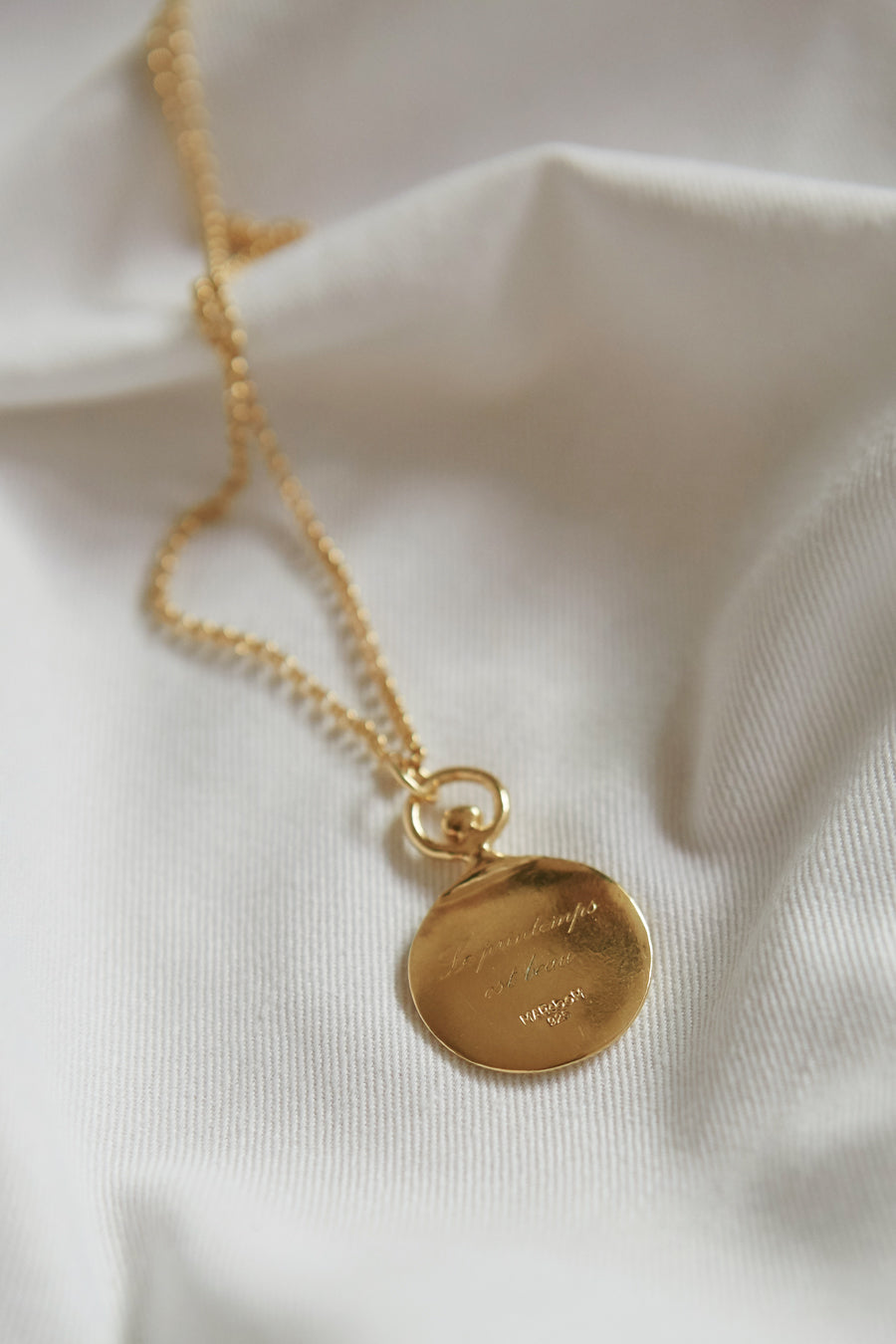 Circle chalk necklace_Gold