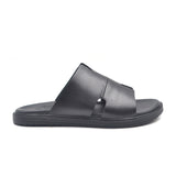 LR LARRIE Men Black Premium Wide Strap Sandals