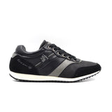 Larrie Black Leatherette Panel Sneakers