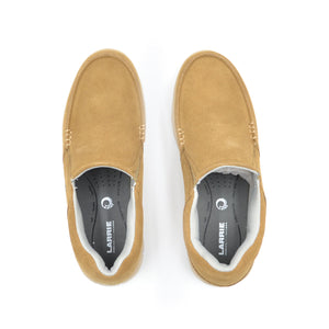 LARRIE Men Almond Smooth Slip On Shoes