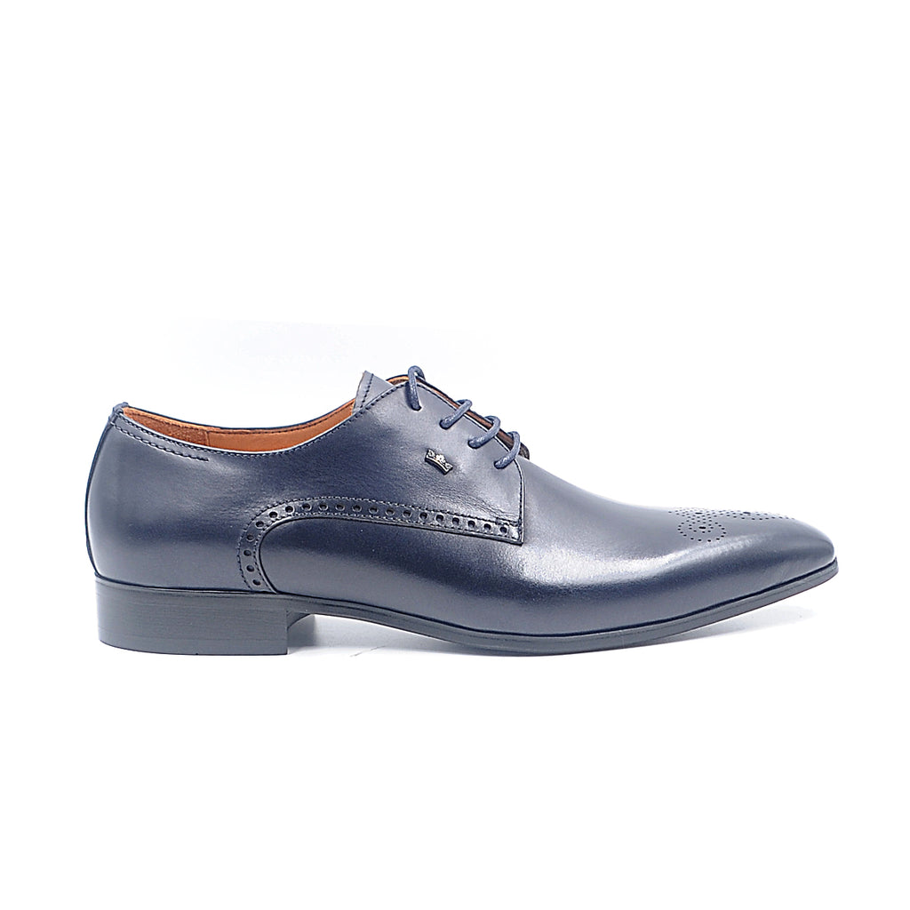 LR LARRIE Navy Lace Up Formal Shoes