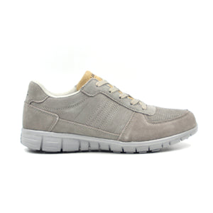 LARRIE Men Grey Smooth Contrast Panel Sneakers