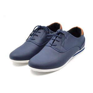 LARRIE Men Navy Smart Contrast Tip Sneakers