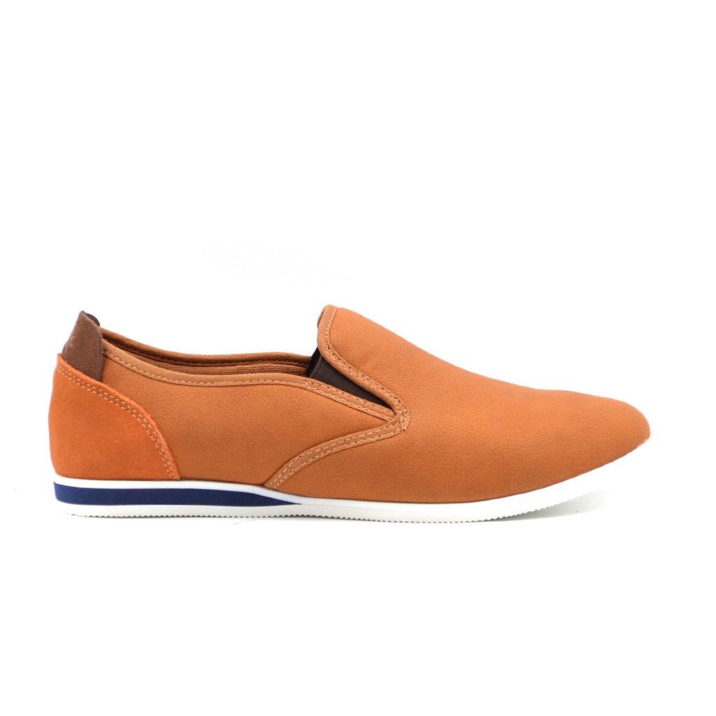 LARRIE Men Tan Smart Slim Slip On Shoes