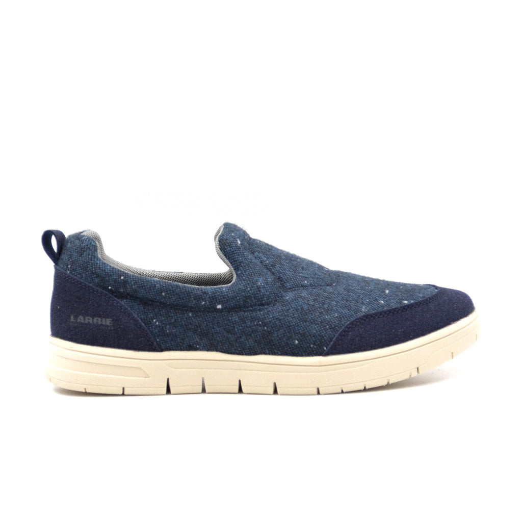 LARRIE Men Navy Fabric Slip On Shoes