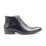 LR LARRIE Black Ankle Cut Formal Shoes