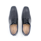 LR LARRIE Black Smart Lace Up Business Shoes