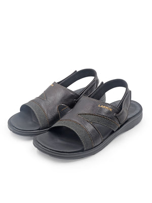 Larrie Black Heel Back Strap Sandals