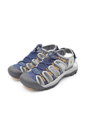Larrie Navy Webbed Sporty Sandals