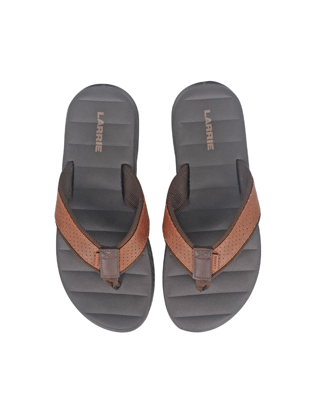 Larrie Dark Brown Dotted Strap Sandals