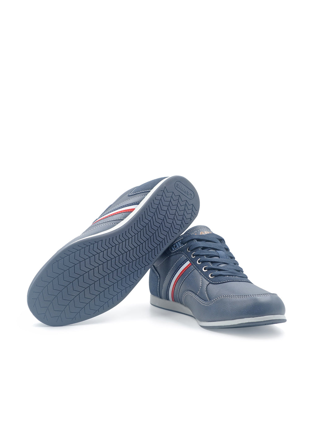Larrie Navy Contrast Lined Sneakers