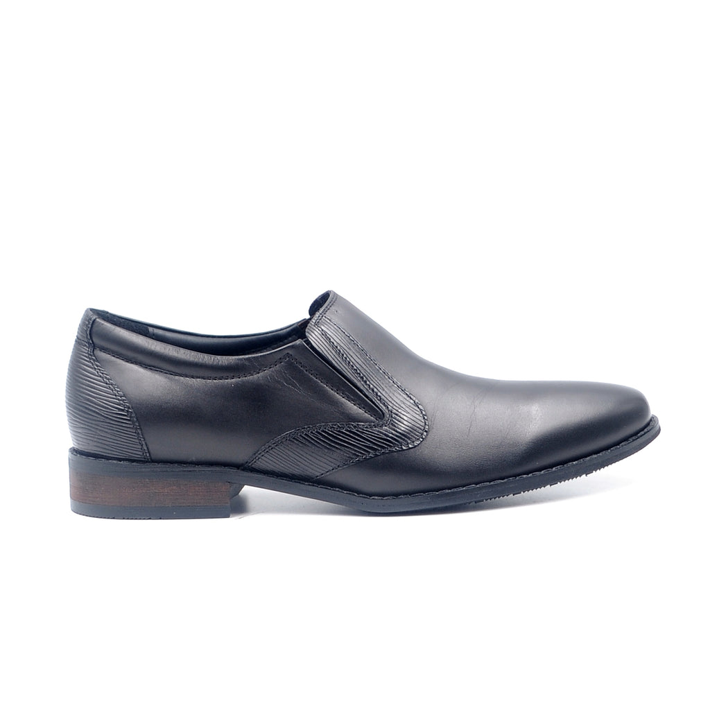 LR LARRIE Black Smooth High Cut Business Shoes