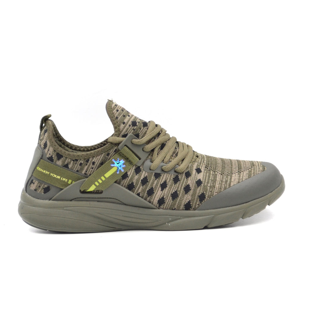 LARRIE Men Olive Smart LaKnit Sneakers