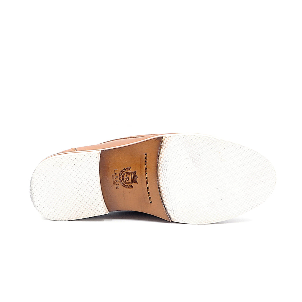 LR LARRIE Tan Basic Slip On Shoes
