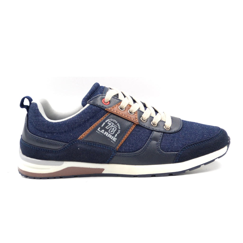 LARRIE Men Navy Modern Cut Sneakers