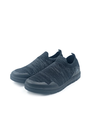Larrie Black Casual LaKnit Slip On Shoes