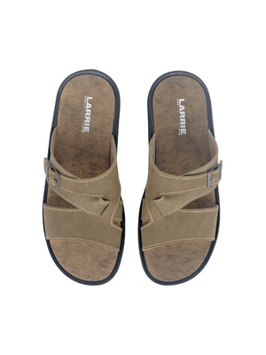 Larrie Light Khaki Buckle Sandals