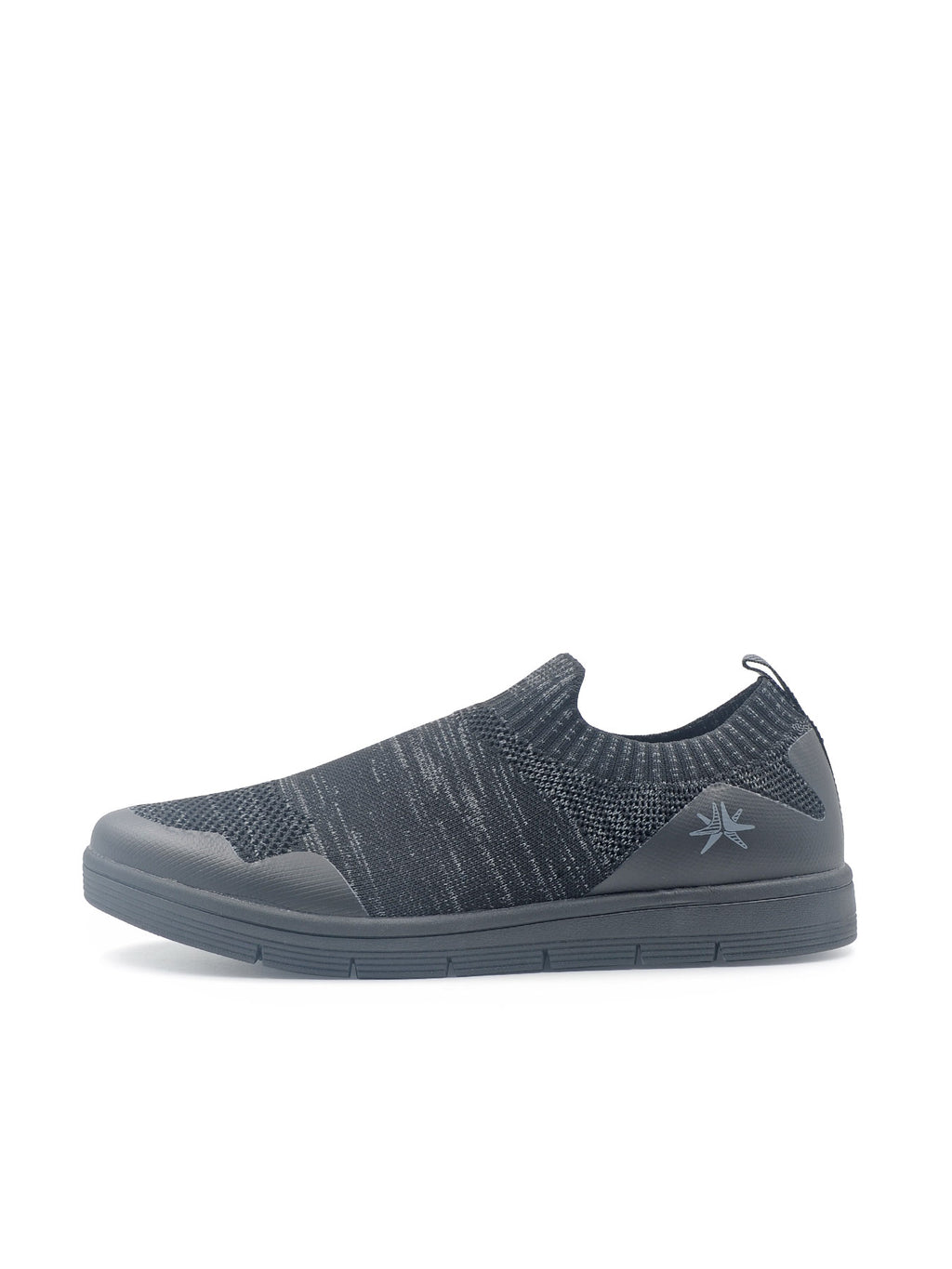 LARRIE Men Black Casual LaKnit Slip On Shoes
