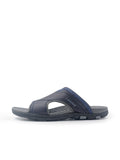 Larrie Navy Wide Panel Sandals