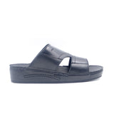 LR LARRIE Black Buckled Slip On Sandals