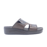 LR LARRIE Coffee Buckled Slip On Sandals