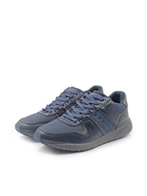 LARRIE Men Navy Canvas Panel Sneakers