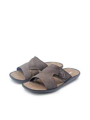 Larrie Coffee Buckle Sandals