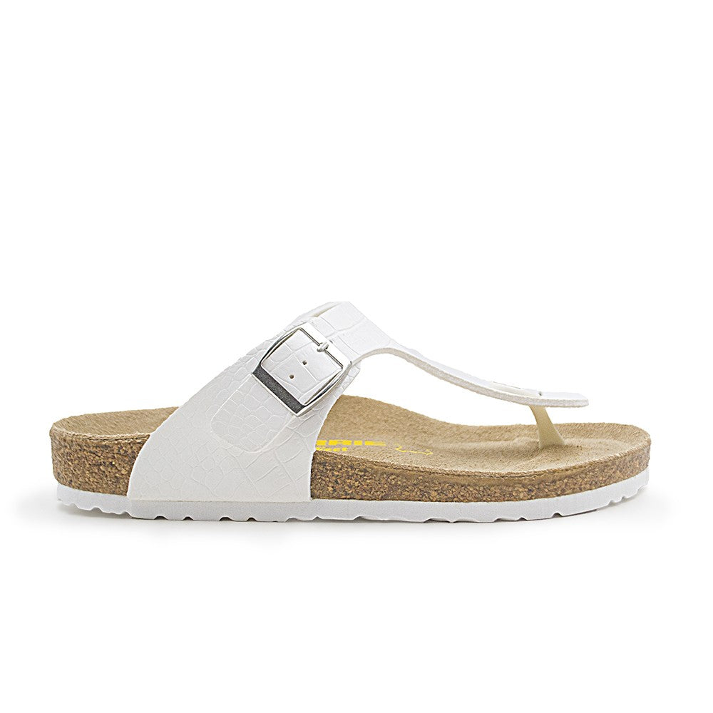LARRIE Men White Open Toe Sandals