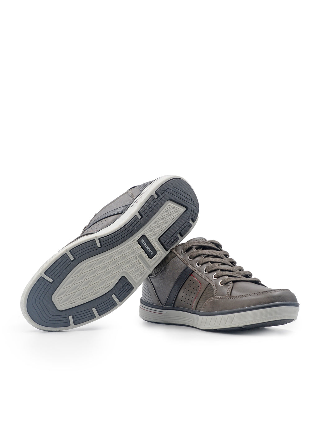 Larrie Light Coffee Striking Line Sneakers