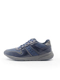 Larrie Navy Canvas Panel Sneakers