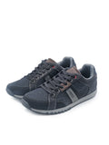 Larrie Black Canvas Sneakers